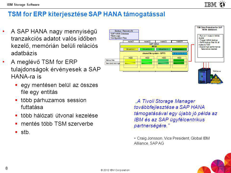 TSM for ERP kiterjesztése SAP HANA támogatással