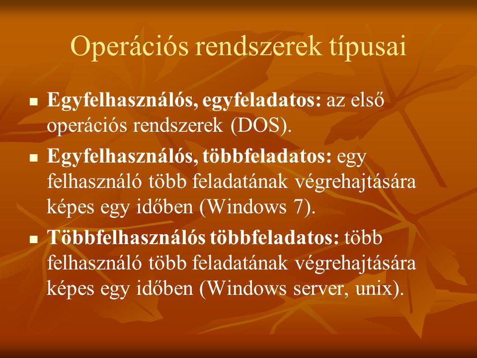 Operációs rendszerek típusai