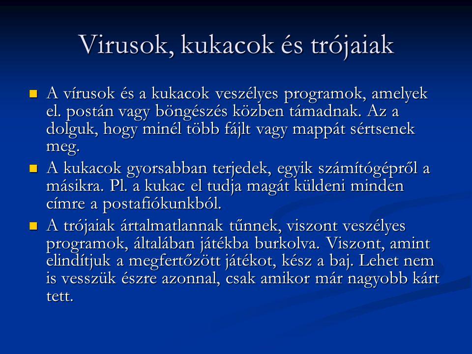 Virusok, kukacok és trójaiak