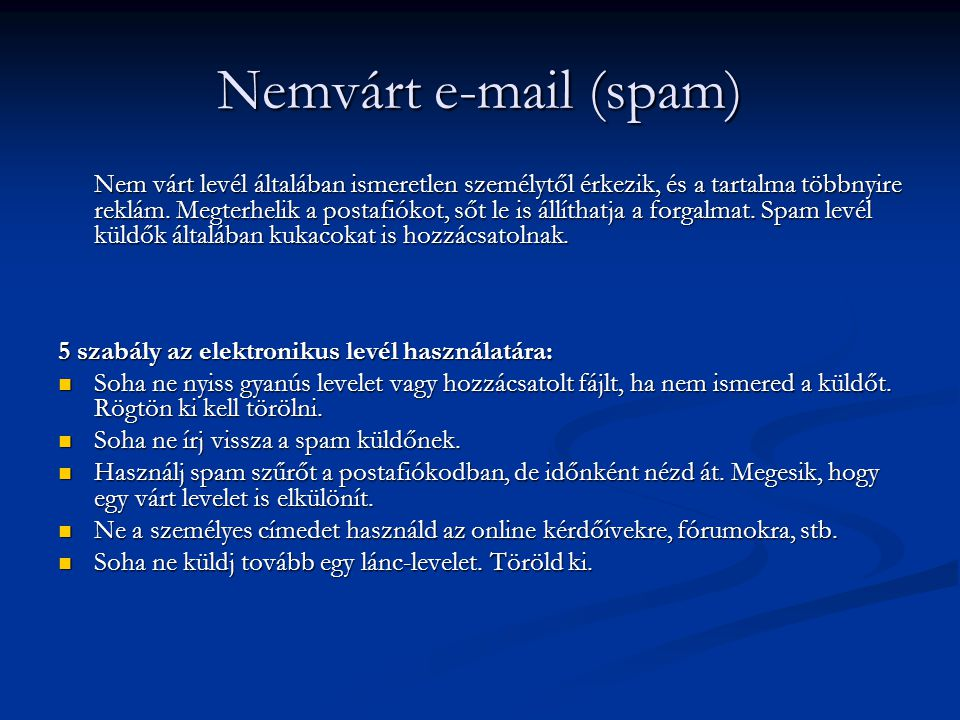 Nemvárt e-mail (spam)