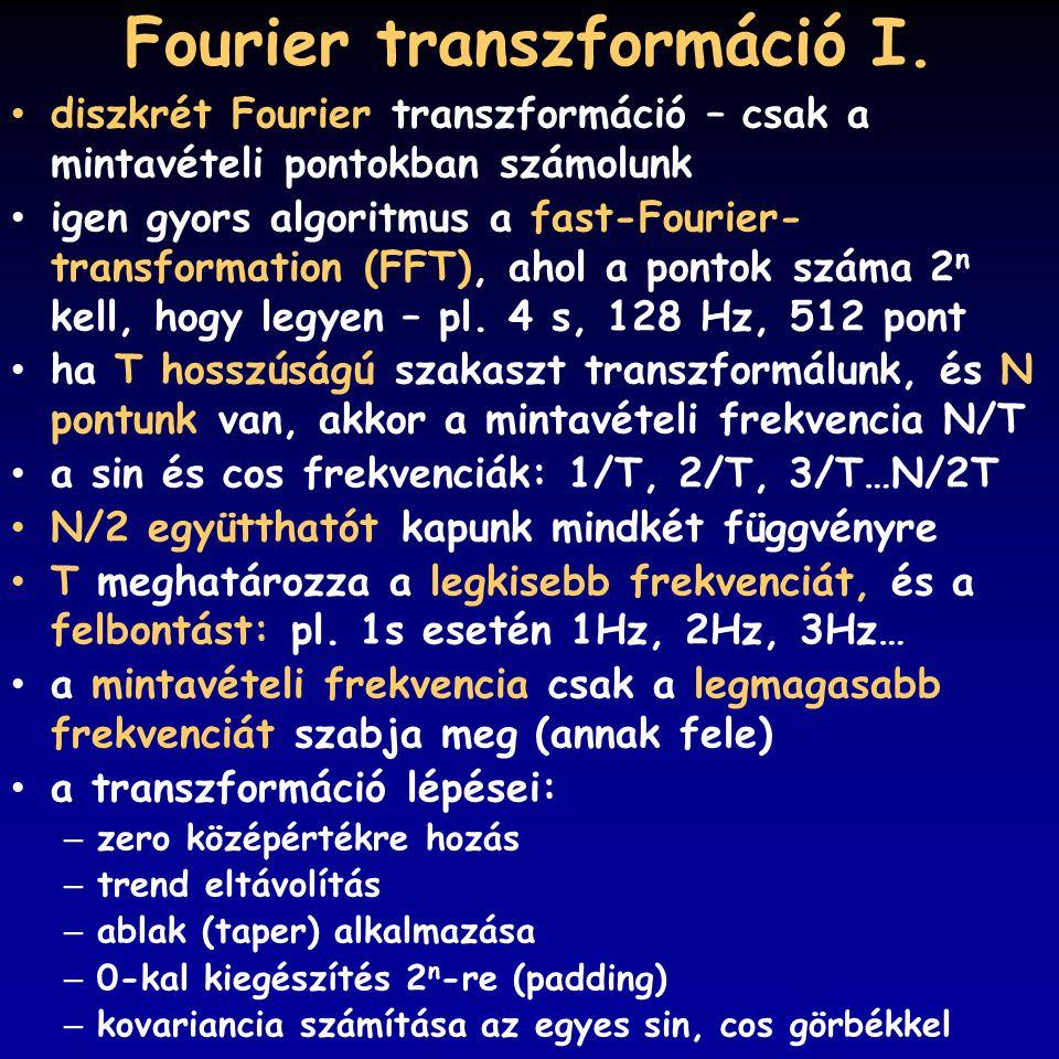 Fourier transzformáció I.