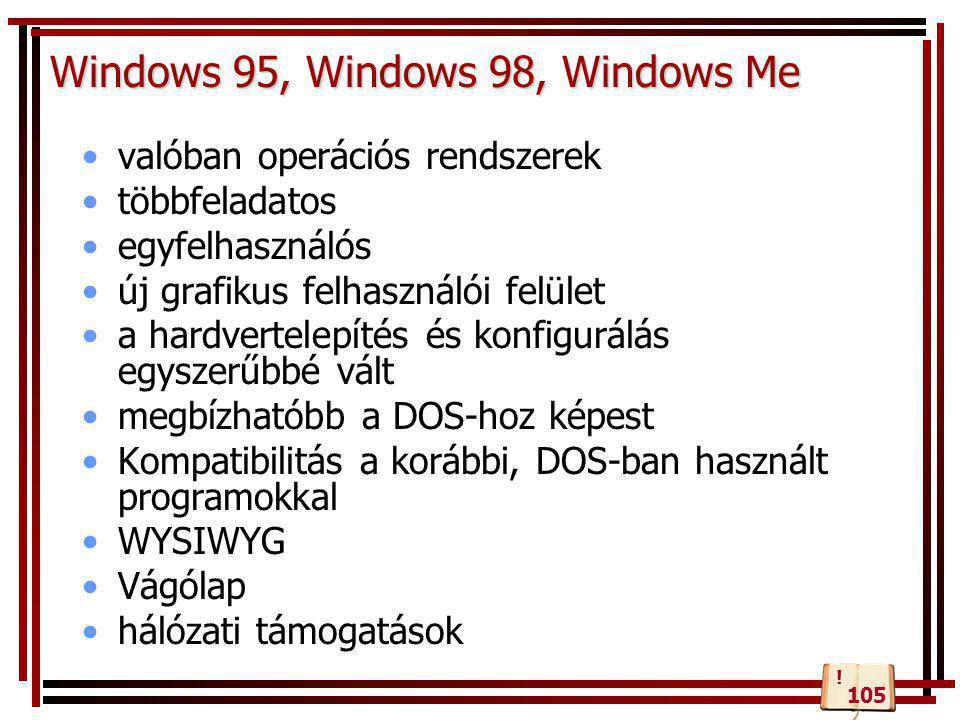 Windows 95, Windows 98, Windows Me