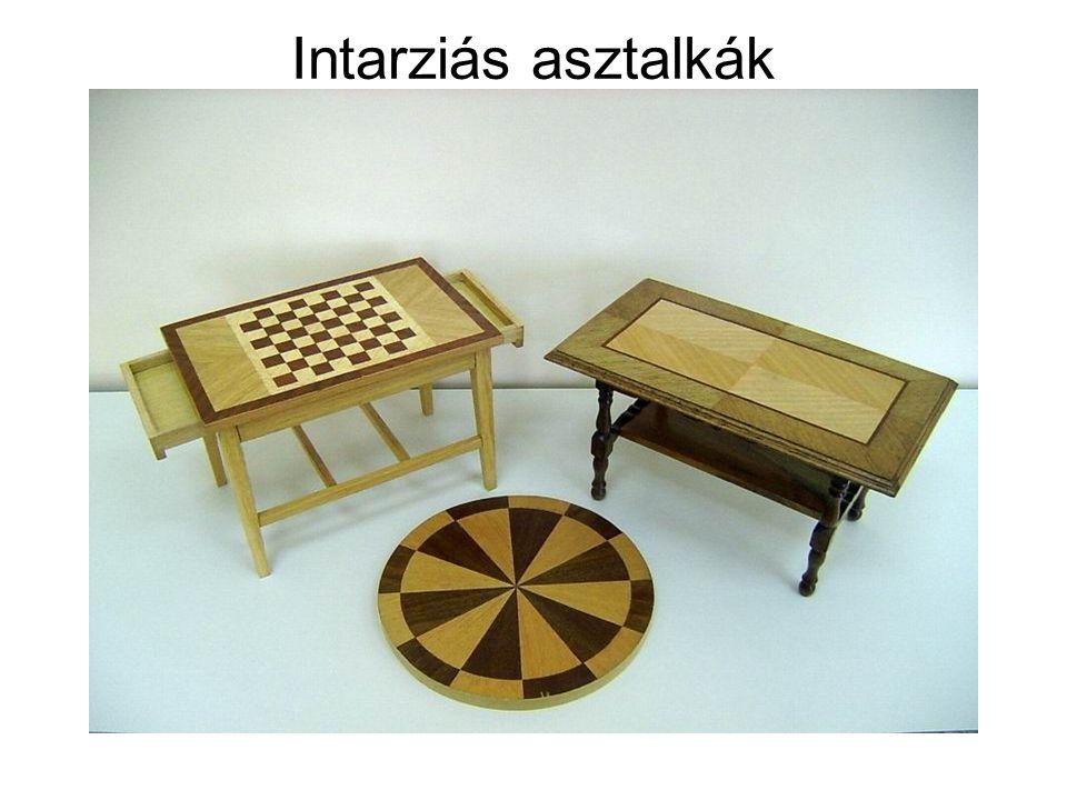 Intarziás asztalkák