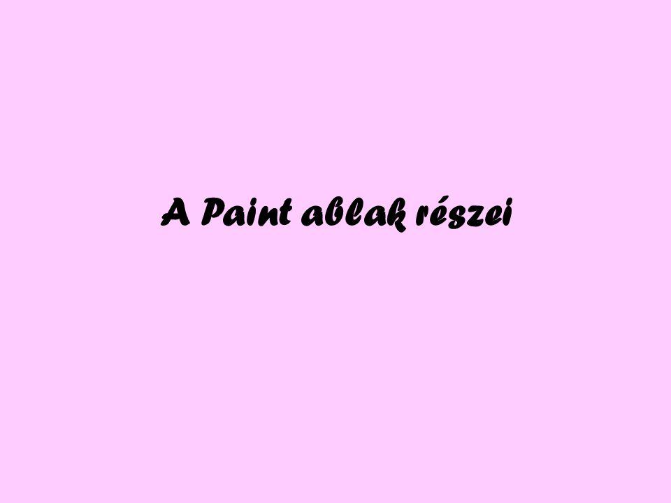 A Paint ablak részei