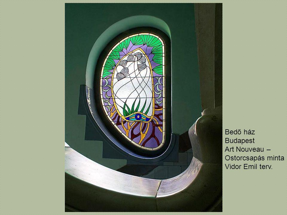 Bedő ház Budapest Art Nouveau – Ostorcsapás minta Vidor Emil terv.