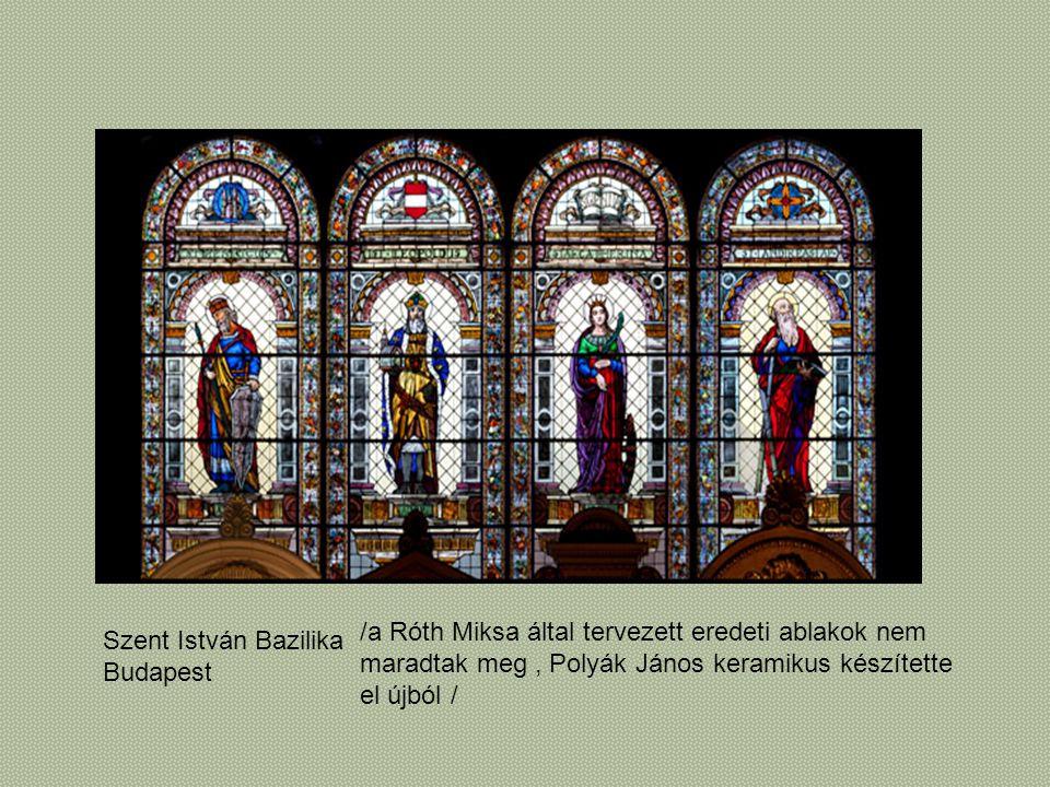 /a Róth Miksa által tervezett eredeti ablakok nem
