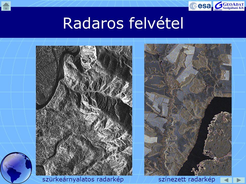 Radaros felvétel szürkeárnyalatos radarkép színezett radarkép
