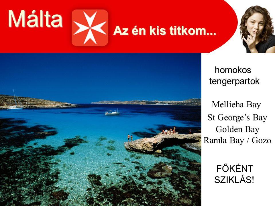 Málta Az én kis titkom... homokos tengerpartok Mellieha Bay