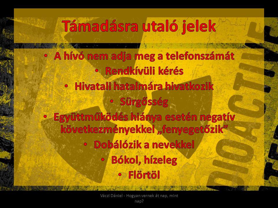 Támadásra utaló jelek A hívó nem adja meg a telefonszámát