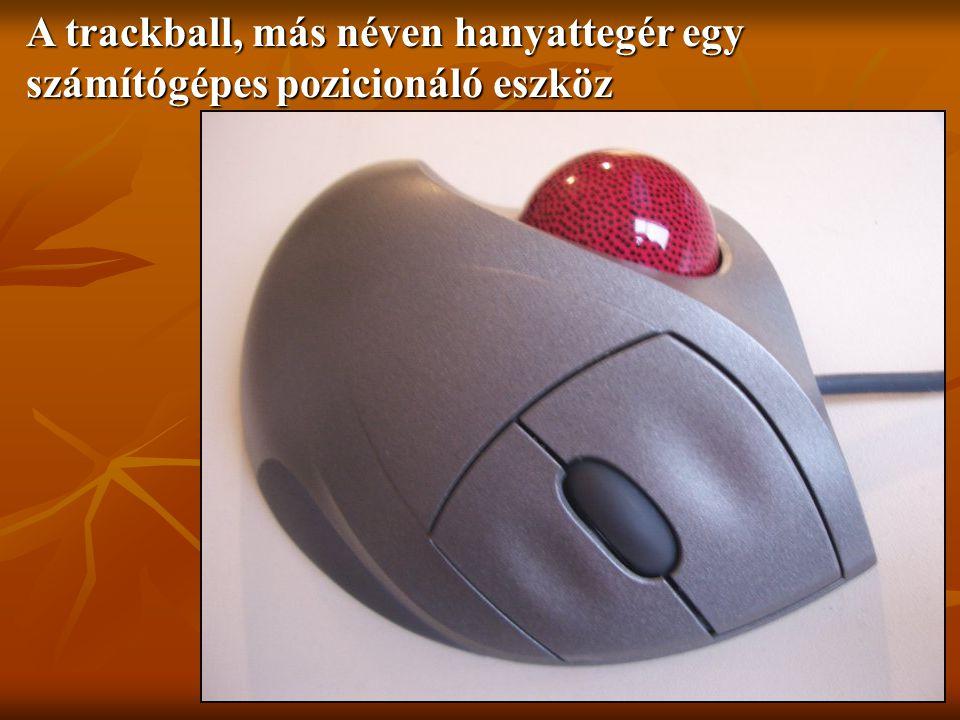 A trackball, más néven hanyattegér egy számítógépes pozicionáló eszköz