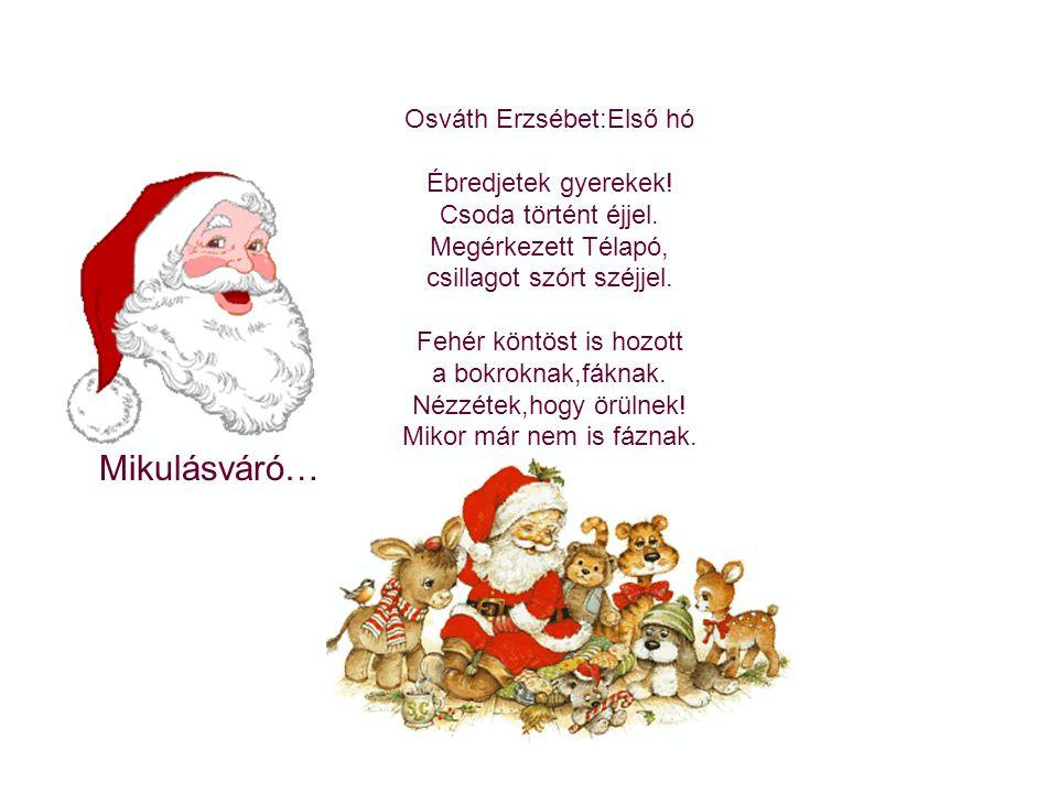 Mikulásváró… Osváth Erzsébet:Első hó Ébredjetek gyerekek!