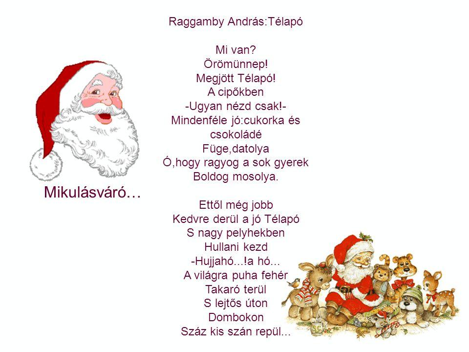 Mikulásváró… Raggamby András:Télapó Mi van Örömünnep! Megjött Télapó!