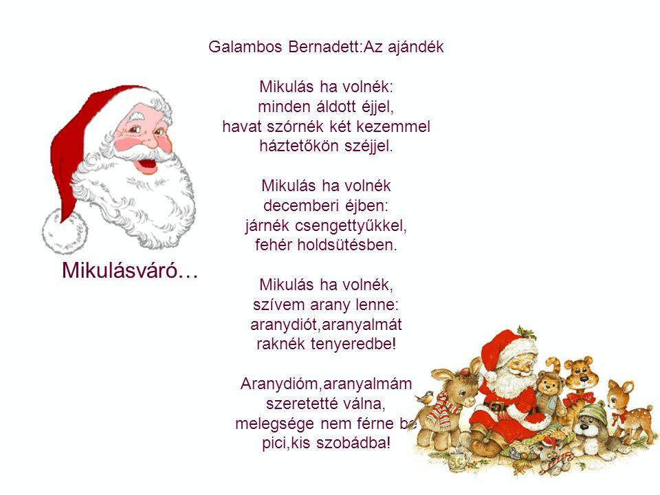 Mikulásváró… Galambos Bernadett:Az ajándék Mikulás ha volnék: