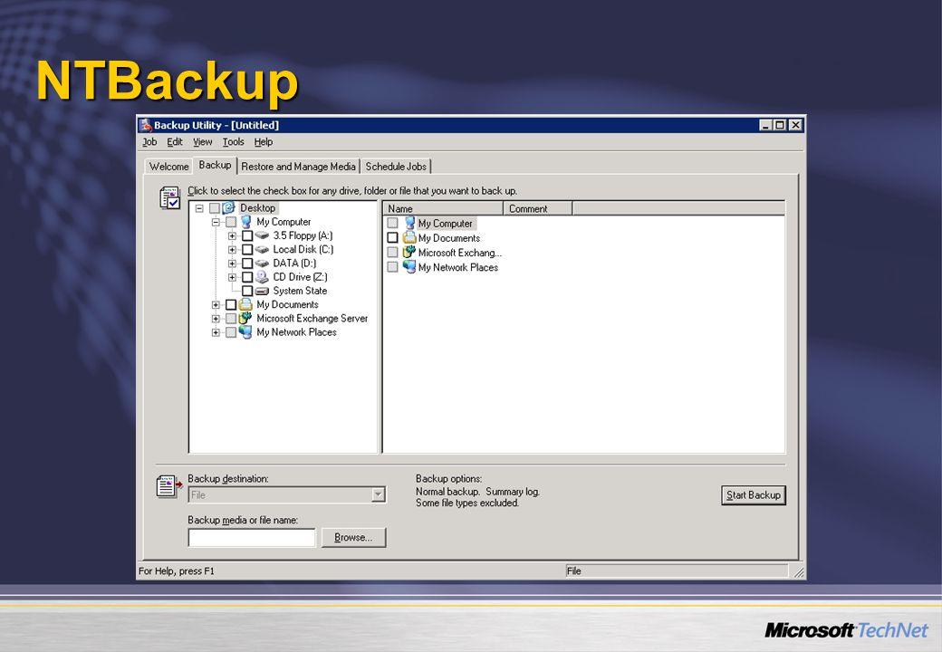 NTBackup NTBackup.