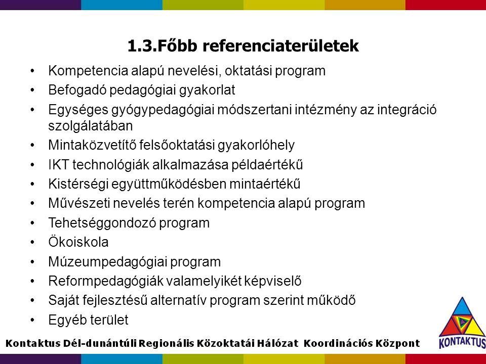 1.3.Főbb referenciaterületek