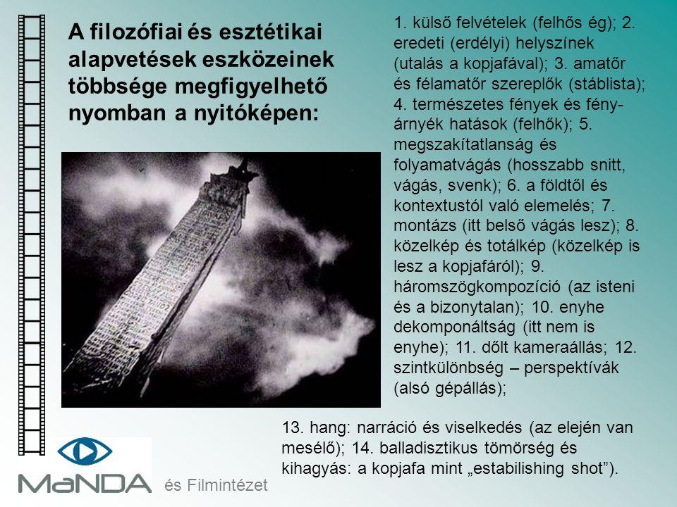 1. külső felvételek (felhős ég); 2