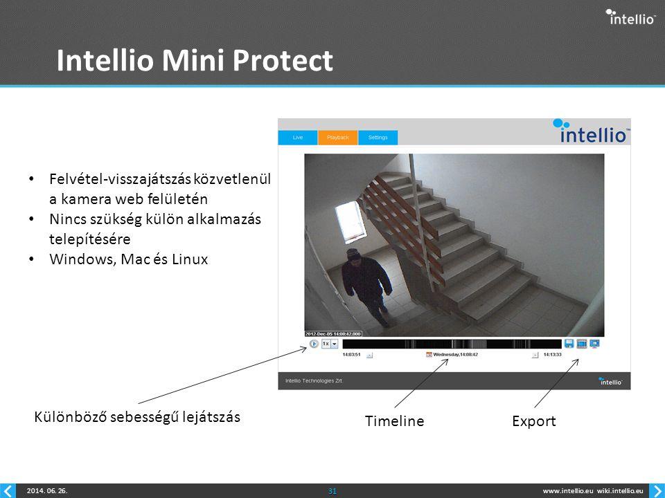 Intellio Mini Protect Felvétel-visszajátszás közvetlenül a kamera web felületén. Nincs szükség külön alkalmazás telepítésére.