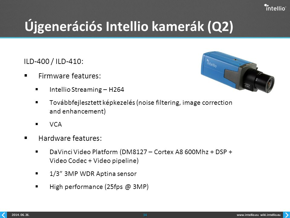 Újgenerációs Intellio kamerák (Q2)