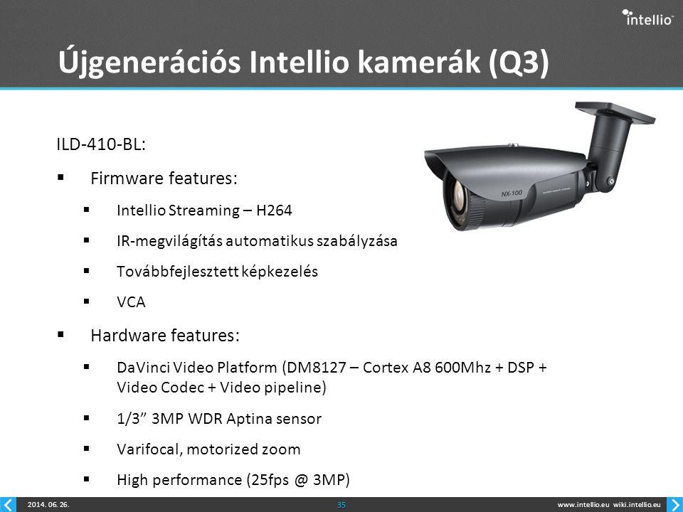 Újgenerációs Intellio kamerák (Q3)
