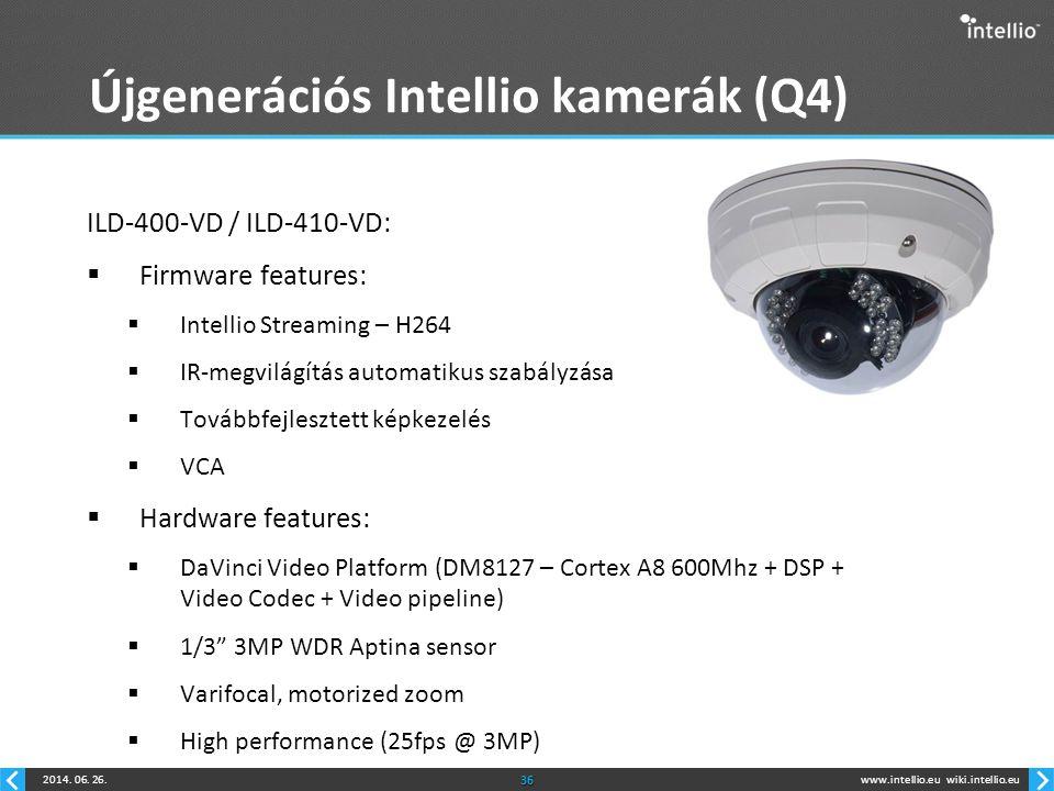 Újgenerációs Intellio kamerák (Q4)