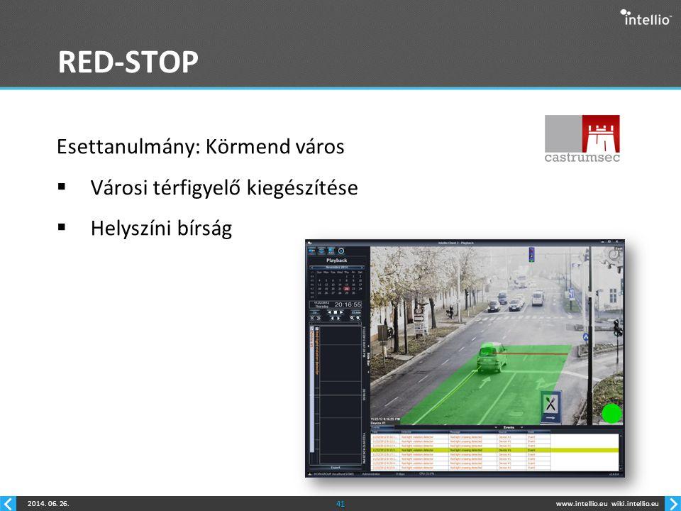 RED-STOP Esettanulmány: Körmend város Városi térfigyelő kiegészítése