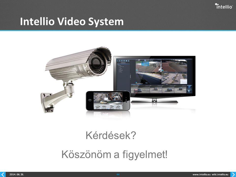 Intellio Video System Kérdések Köszönöm a figyelmet!