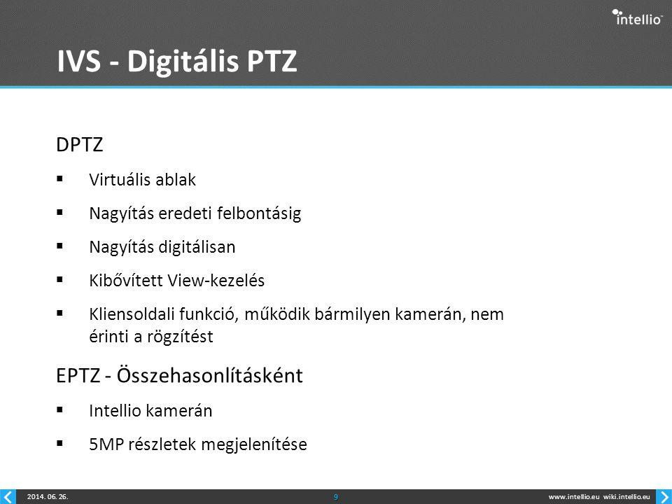 IVS - Digitális PTZ DPTZ EPTZ - Összehasonlításként Virtuális ablak