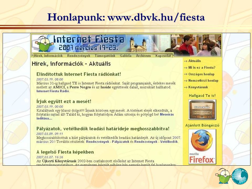 Honlapunk: www.dbvk.hu/fiesta
