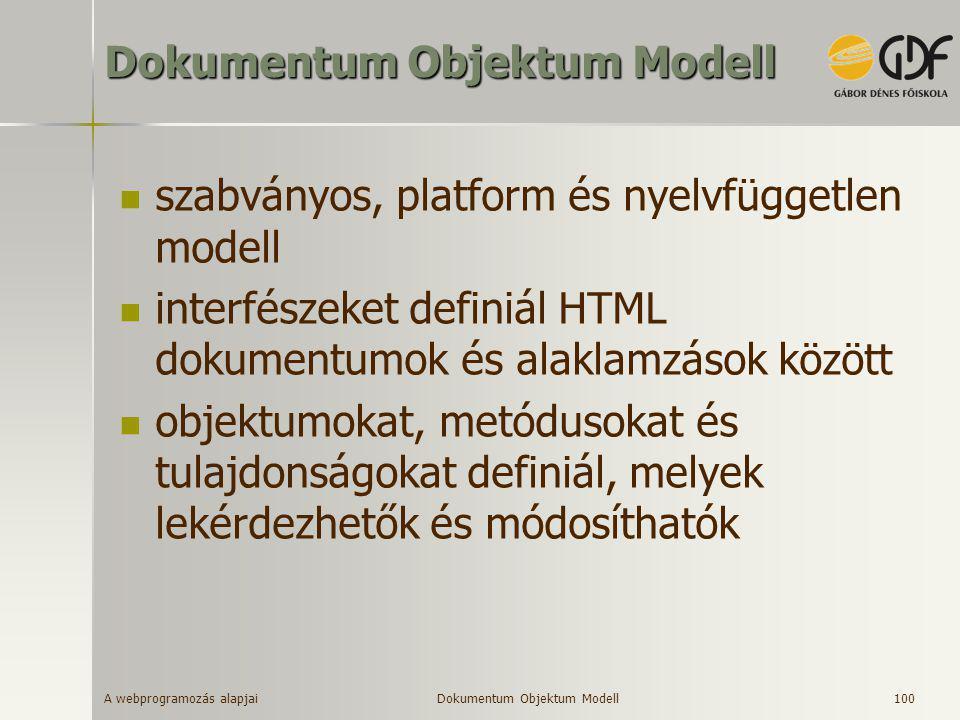 Dokumentum Objektum Modell