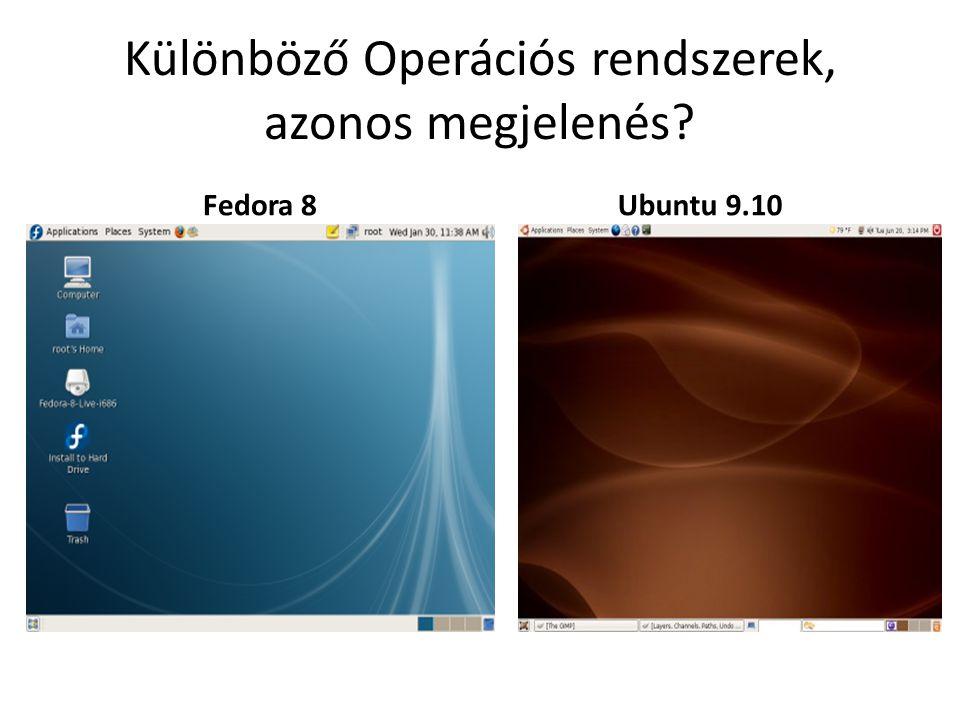 Különböző Operációs rendszerek, azonos megjelenés