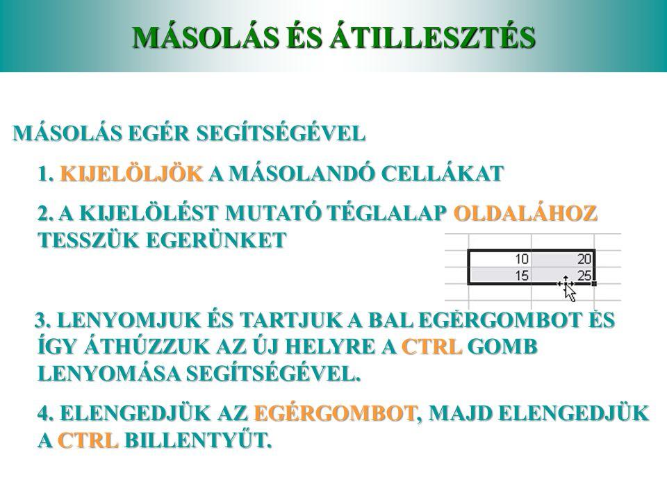 MÁSOLÁS ÉS ÁTILLESZTÉS