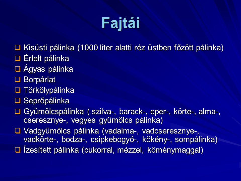 Fajtái Kisüsti pálinka (1000 liter alatti réz üstben főzött pálinka)