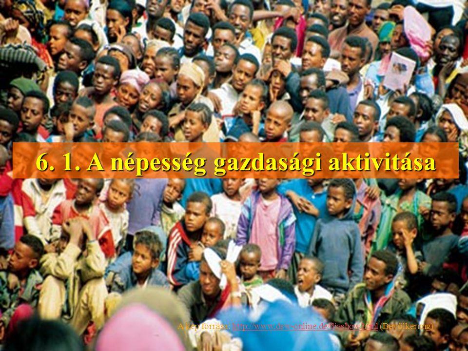 6. 1. A népesség gazdasági aktivitása
