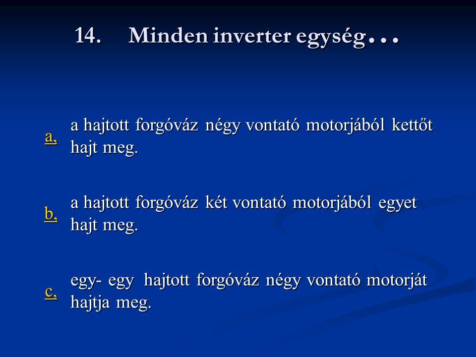 14. Minden inverter egység…