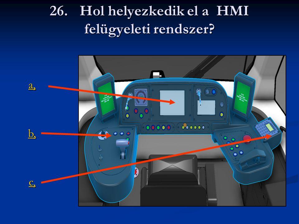 26. Hol helyezkedik el a HMI felügyeleti rendszer