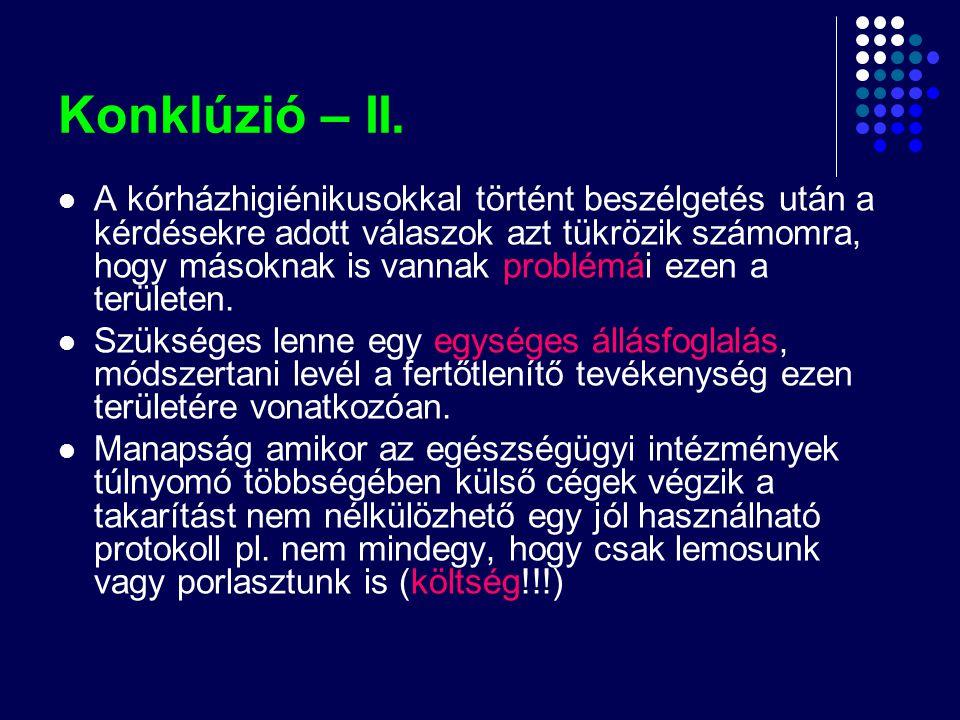 Konklúzió – II.