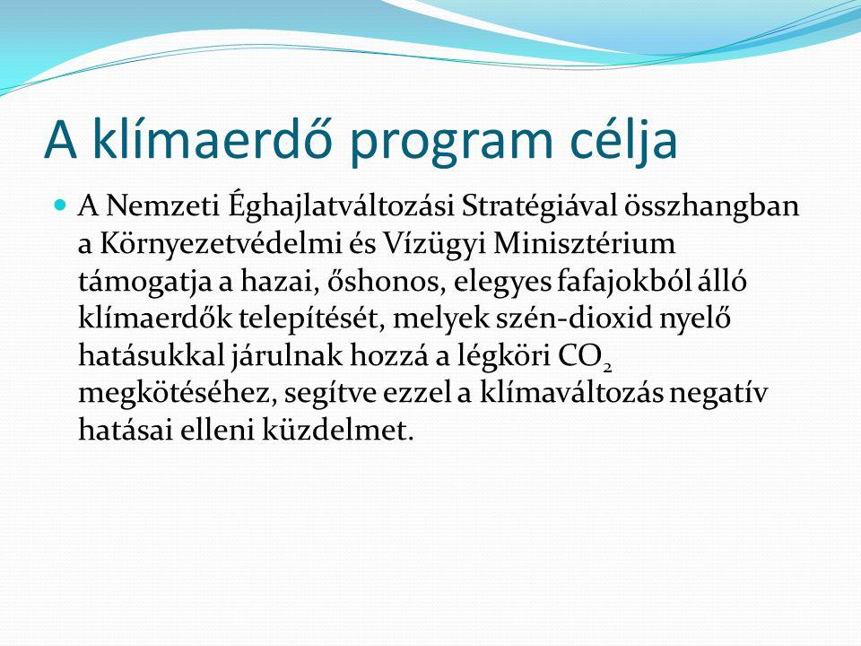 A klímaerdő program célja