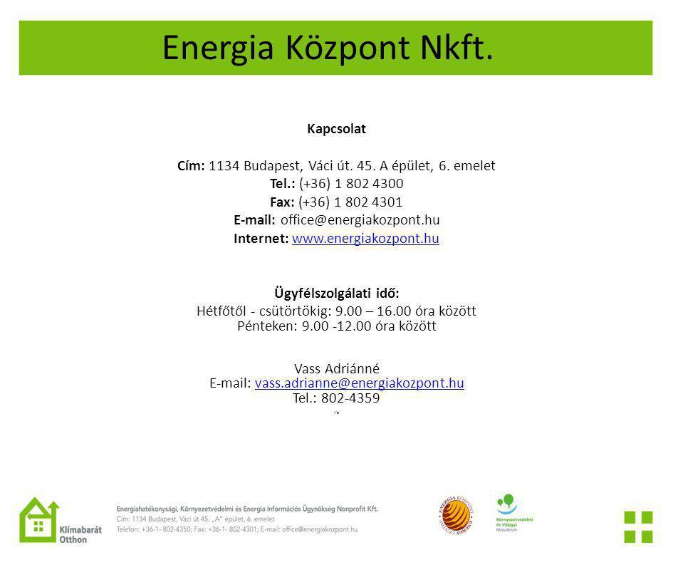 Energia Központ Nkft. Kapcsolat
