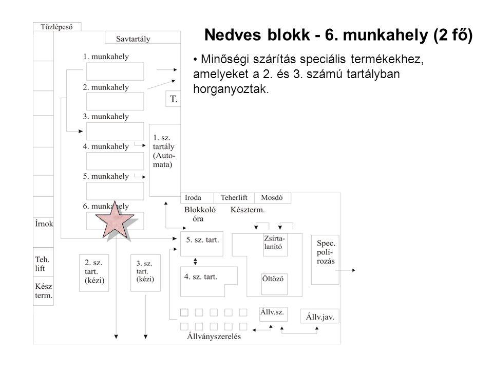 Nedves blokk - 6. munkahely (2 fő)