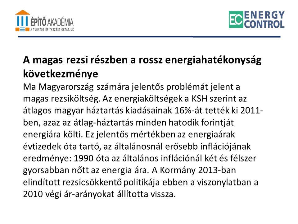 A magas rezsi részben a rossz energiahatékonyság következménye