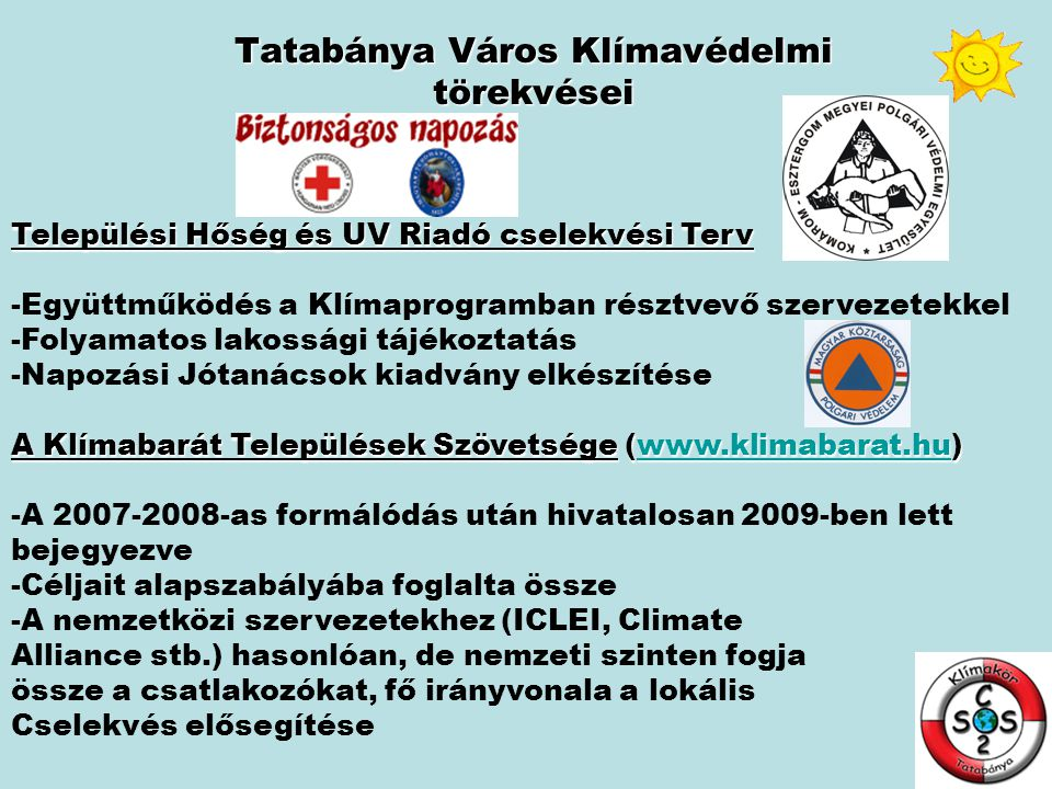 Tatabánya Város Klímavédelmi törekvései