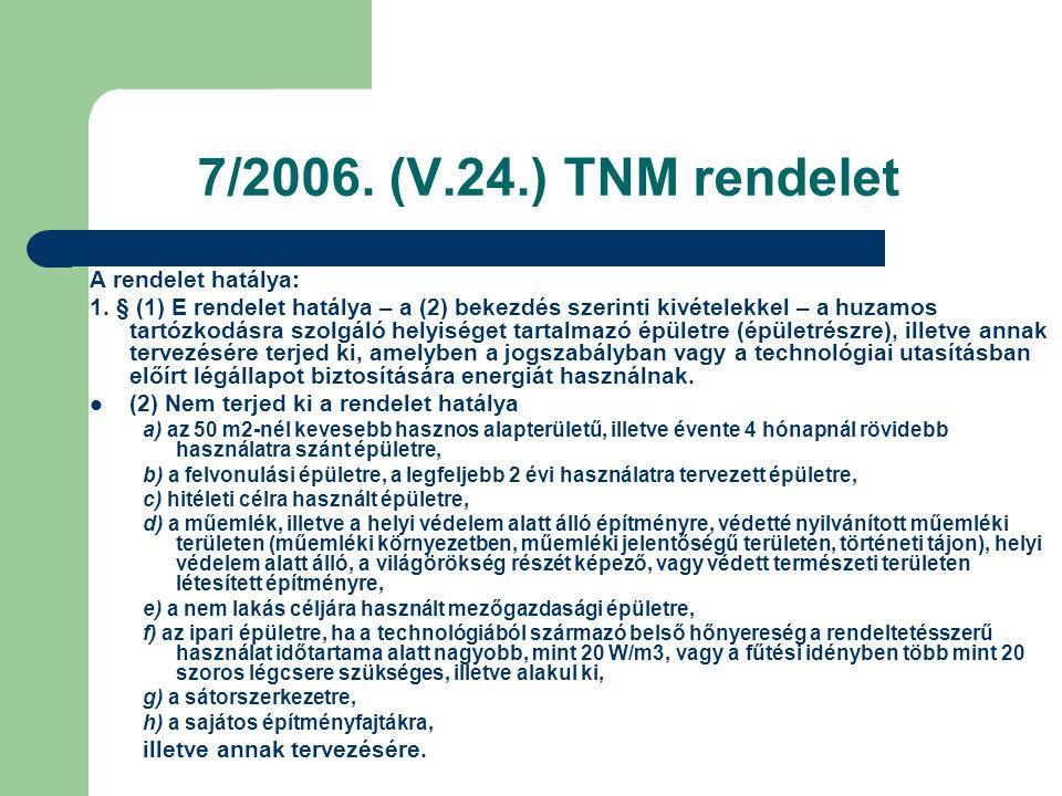 7/2006. (V.24.) TNM rendelet A rendelet hatálya: