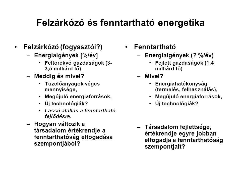Felzárkózó és fenntartható energetika