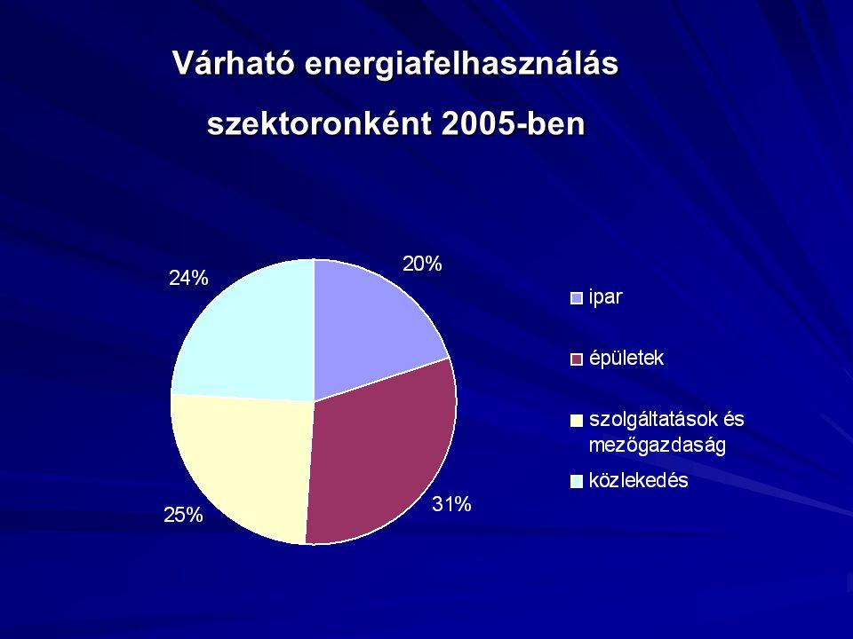 Várható energiafelhasználás