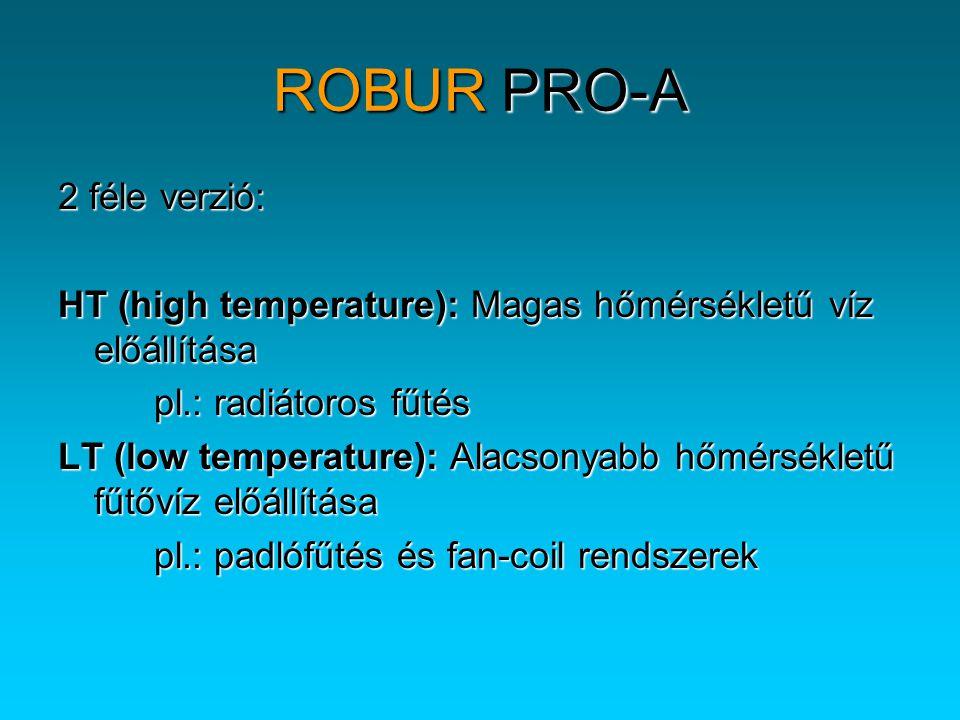 ROBUR PRO-A 2 féle verzió: