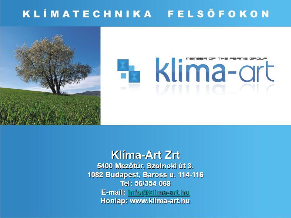 E-mail: info@klima-art.hu Honlap: www.klima-art.hu