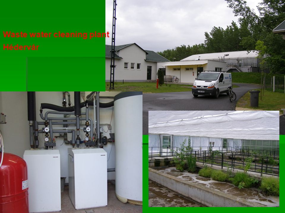 Waste water cleaning plant