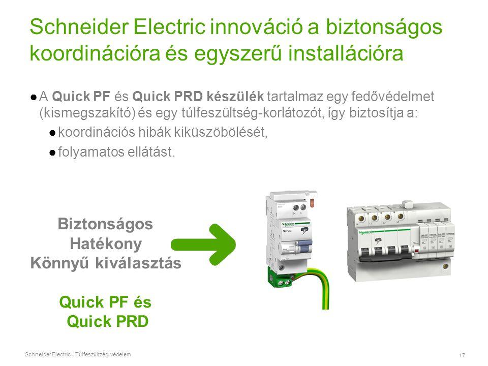 Schneider Electric innováció a biztonságos koordinációra és egyszerű installációra