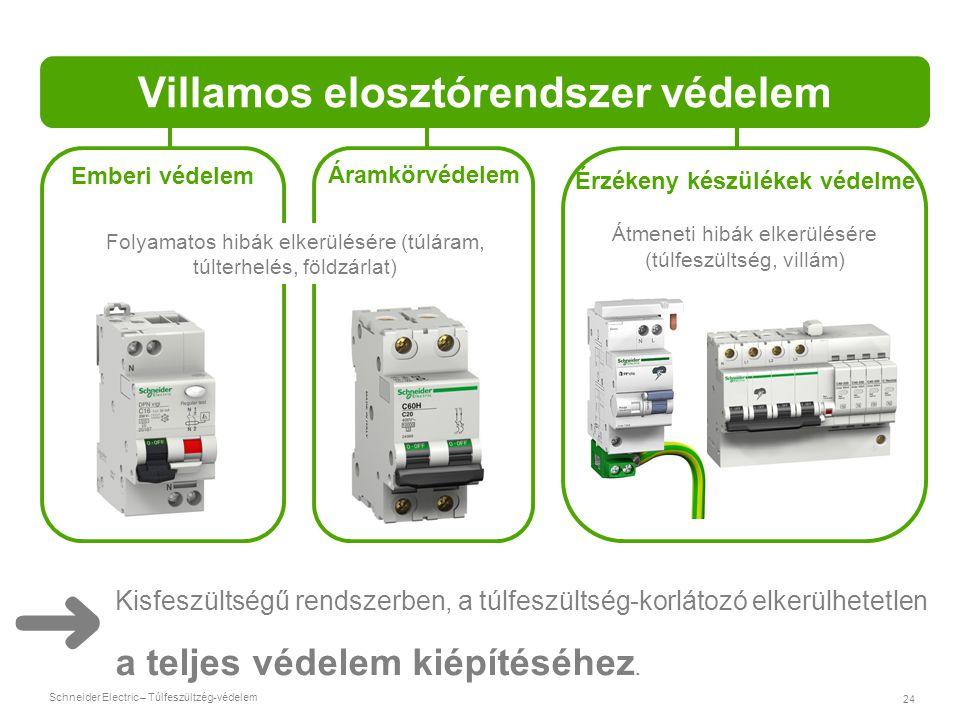 Villamos elosztórendszer védelem Érzékeny készülékek védelme