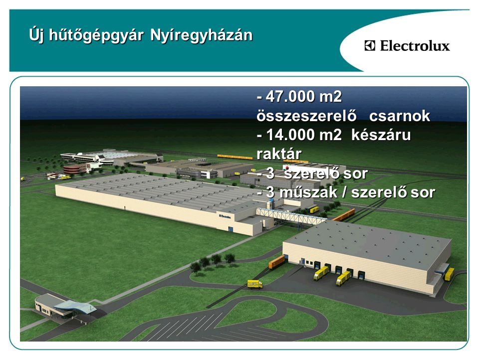 Új hűtőgépgyár Nyíregyházán